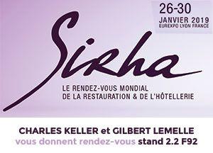 Sirha 2019 – Charles Keller et Gilbert Lemelle – Stand 2.2 F92